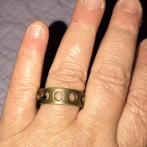 Kelly Wearstler Unisex Brass Band Perforated Ring